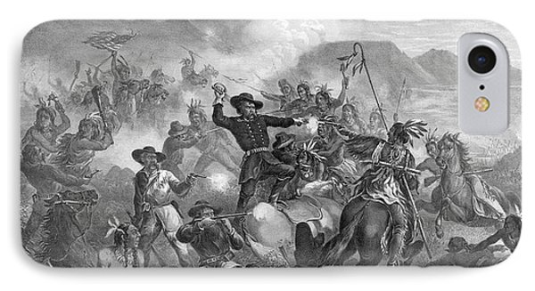 Battle On The Little Big Horn, 1876 Phone Case by Photo Researchers