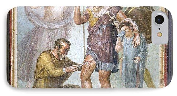 Battle Wounds Of Aeneas, Roman Fresco Phone Case by Sheila Terry