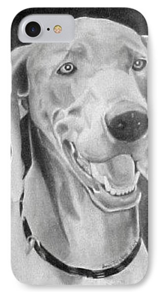 IPhone Case featuring the drawing Baxter by Ana Tirolese