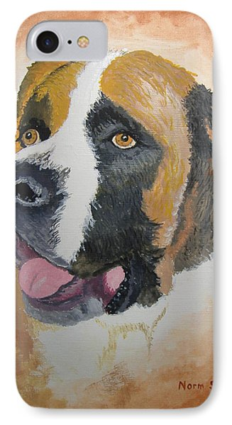IPhone Case featuring the painting Baxter by Norm Starks