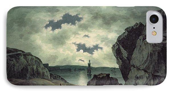 Bay Scene In Moonlight Phone Case by John Warwick Smith