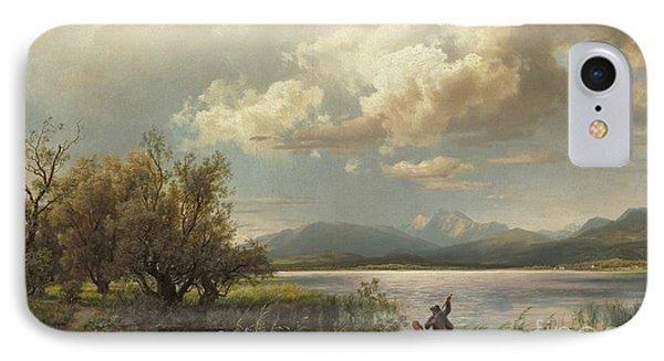 Bayern Landscape Phone Case by Augustus Wilhelm Leu