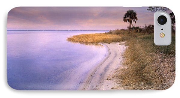 Beach Along Saint Josephs Bay Florida Phone Case by Tim Fitzharris
