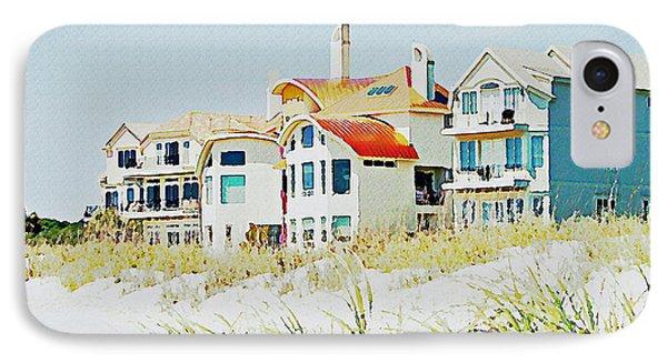 Beach House Phone Case by Carol  Bradley