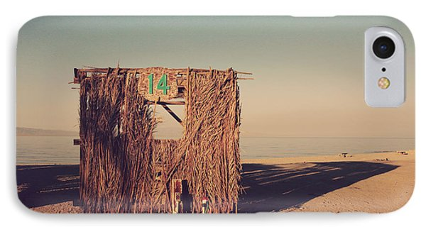 Beach Hut Number Fourteen Phone Case by Laurie Search