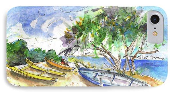 Beach In Ayia Napa IPhone Case by Miki De Goodaboom