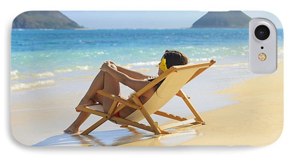 Beach Lounger II Phone Case by Tomas del Amo