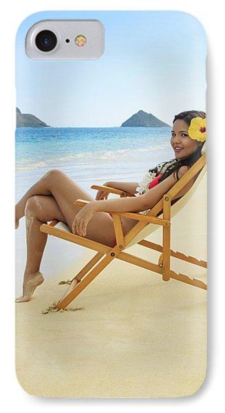 Beach Lounger Phone Case by Tomas del Amo