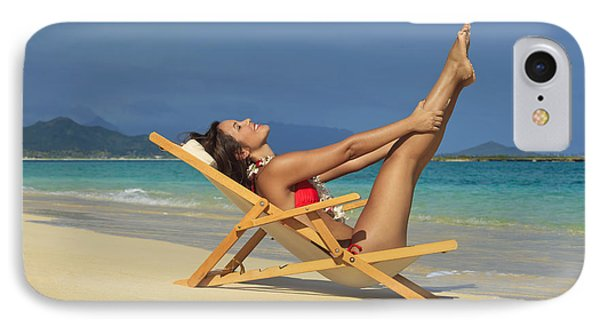 Beach Stretches Phone Case by Tomas del Amo
