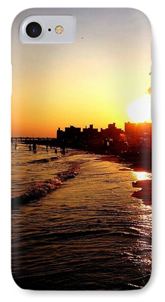 Beach Sunset - Coney Island - New York City IPhone Case by Vivienne Gucwa