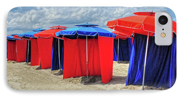 IPhone Case featuring the photograph Beach Umbrellas Nice France by Dave Mills