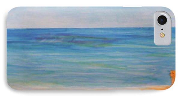 Beach Walk Phone Case by Monika Shepherdson