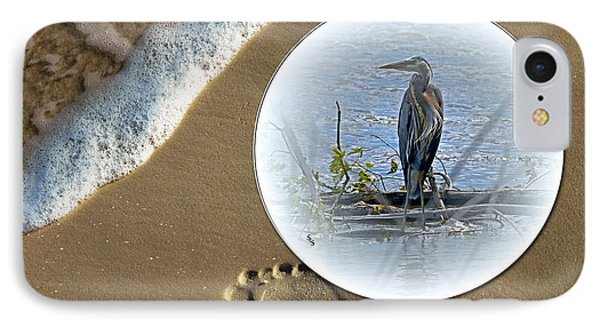 Beached Heron IPhone Case