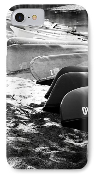 IPhone Case featuring the photograph Beached Kayaks by Julia Wilcox