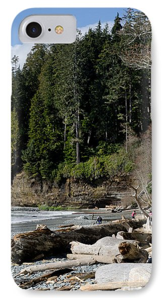 Beached Logs China Beach Vancouver Island Bc Phone Case by Andy Smy