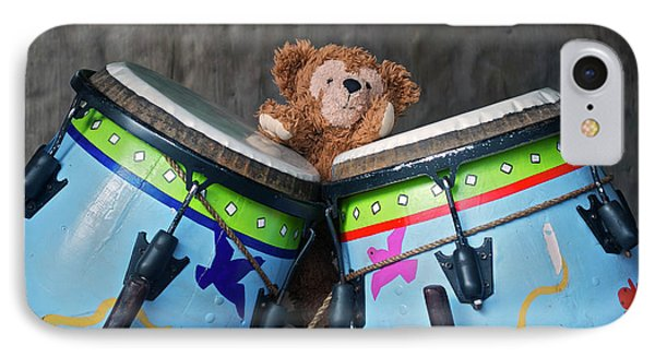 IPhone Case featuring the photograph Bear And His Drums At Walt Disney World by Thomas Woolworth