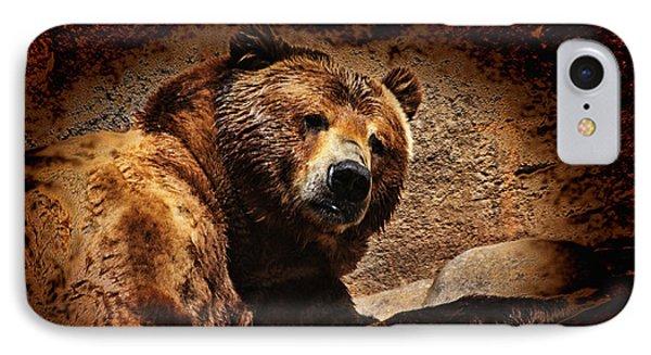 Bear Artistic Phone Case by Karol Livote
