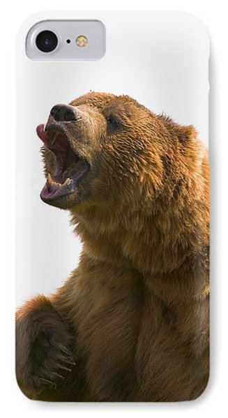 Bear With Tongue Out Of Mouth Phone Case by Carson Ganci
