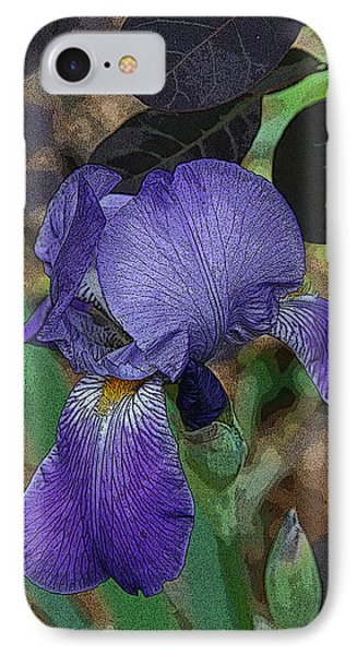 IPhone Case featuring the photograph Bearded Iris by Michael Friedman