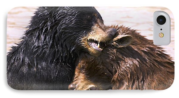 Bears In Water Phone Case by Carson Ganci