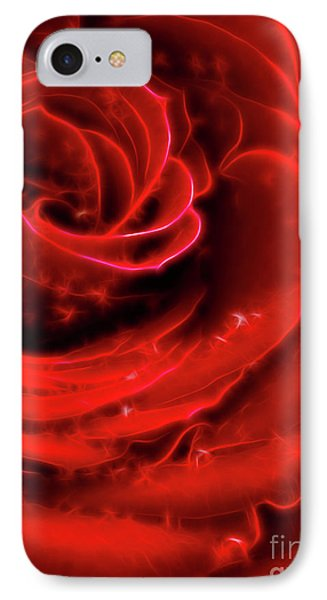 Beautiful Abstract Red Rose Phone Case by Oleksiy Maksymenko