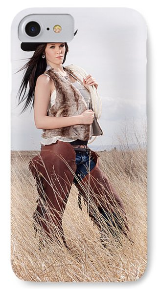Beautiful Cowgirl Phone Case by Cindy Singleton