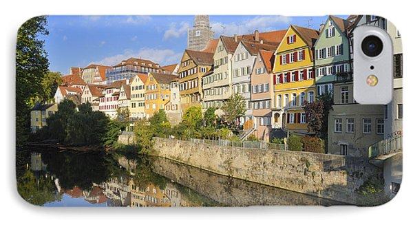 Beautiful German Town Tuebingen - Neckar Waterfront Phone Case by Matthias Hauser