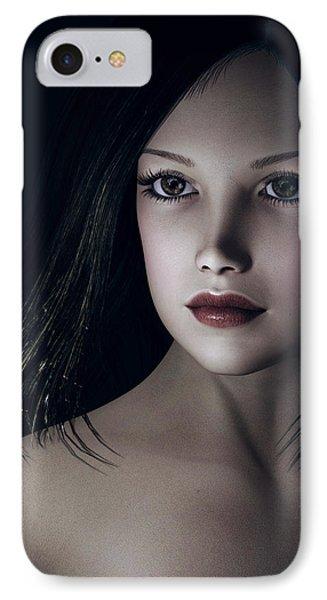 IPhone Case featuring the digital art Beautiful Portrait by Maynard Ellis