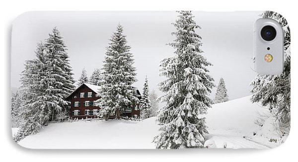 Beautiful Winter Landscape With Trees And House Phone Case by Matthias Hauser
