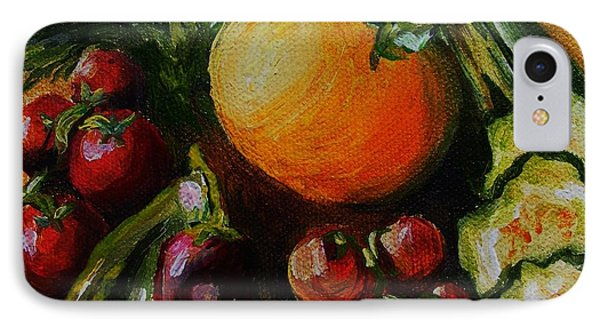 IPhone Case featuring the painting Beauty Of Good Eats by Karen  Ferrand Carroll