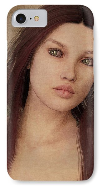 IPhone Case featuring the painting Bedroom Portrait by Maynard Ellis