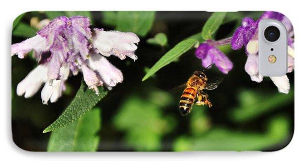 Bee In Flight Phone Case by Kaye Menner