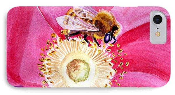 Bee On A Top IPhone Case by Irina Sztukowski