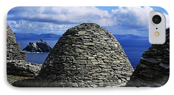 Beehive Huts At The Coast, Skellig Phone Case by The Irish Image Collection