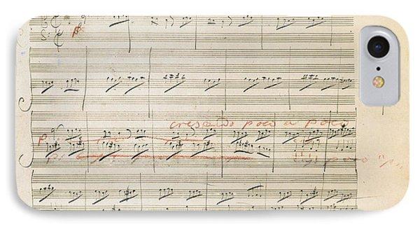 Beethoven Manuscript, 1806 Phone Case by Granger