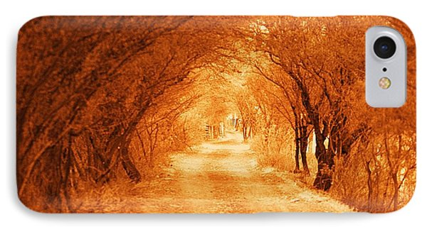 IPhone Case featuring the photograph Before Going For A Walk In Sepia by John  Kolenberg