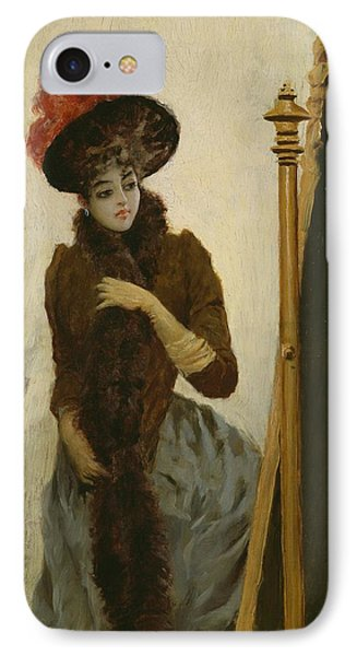Before The Swing Mirror Phone Case by Emile Galle
