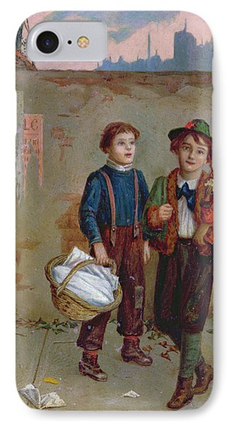 Beggars And A Monkey IPhone Case by Augustus Edward Mulready