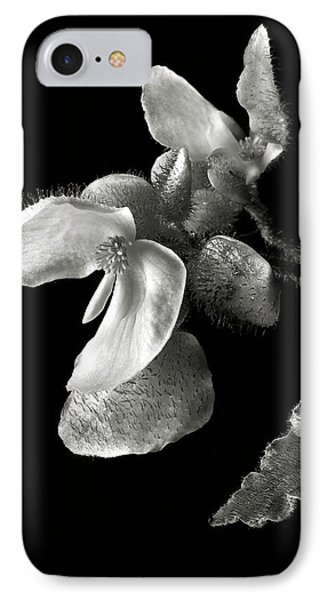 Begonia In Black And White IPhone Case by Endre Balogh