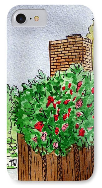 Behind The Fence Sketchbook Project Down My Street Phone Case by Irina Sztukowski