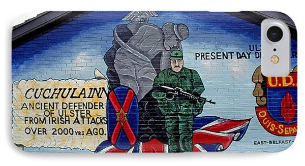 Belfast Mural Phone Case by Thomas R Fletcher