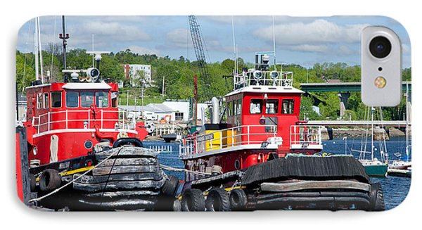 Belfast Tugboats Phone Case by Susan Cole Kelly