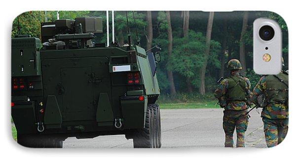 Belgian Infantry Soldiers Walk Phone Case by Luc De Jaeger