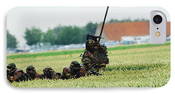 Belgian Paracommandos Entering Phone Case by Luc De Jaeger