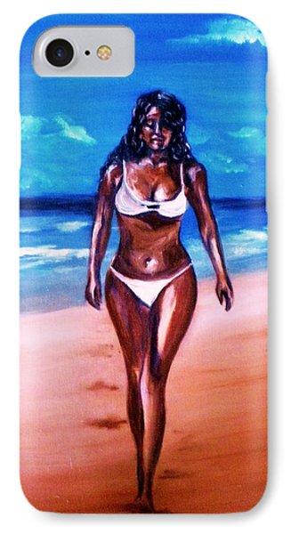 Bella Griselle In Cayo Sombrero Island IPhone Case