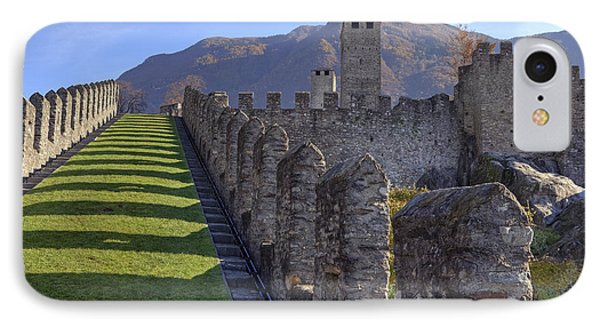 Bellinzona - Castelgrande IPhone 7 Case by Joana Kruse
