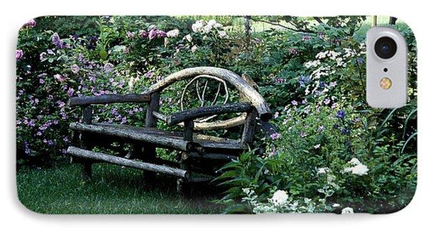 Bench In Garden IPhone Case