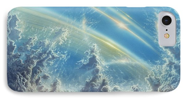 Beneath Saturn's Rings IPhone Case by Don Dixon