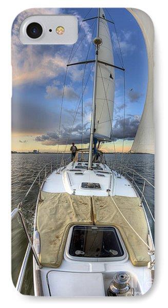 Beneteau Sailboat Sailing Sunset IPhone Case by Dustin K Ryan