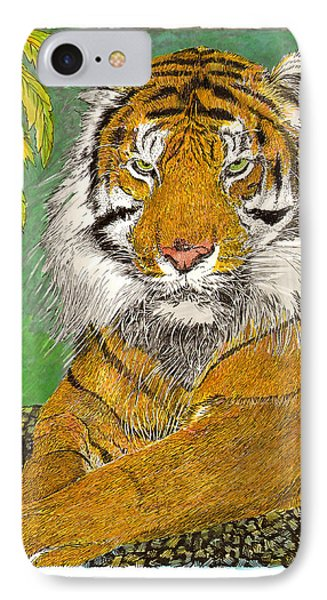 Bengal Tiger With Green Eyes Phone Case by Jack Pumphrey